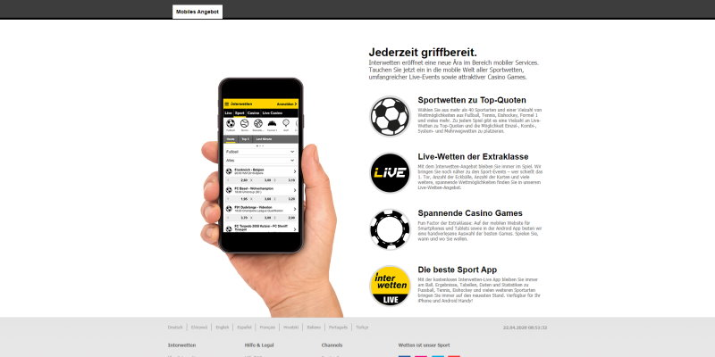 Interwetten Mobile App