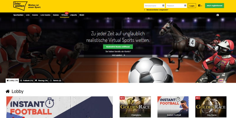 Interwetten Virtuelle Sportwetten