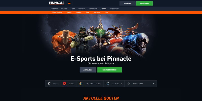 Pinnacle eSports wetten