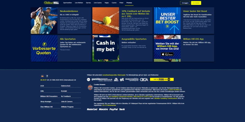William Hill Willkommensbonus